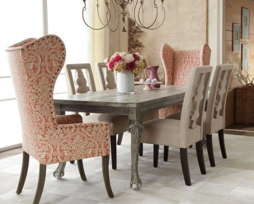 This website demonstrates 37 ways to mix and match dining room chairs.