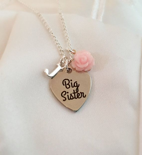 Big sister necklace-gift from little brother-Big Sister Gift-Sister necklace-I'm Gonna Be a Big Sister-announce pregnancy