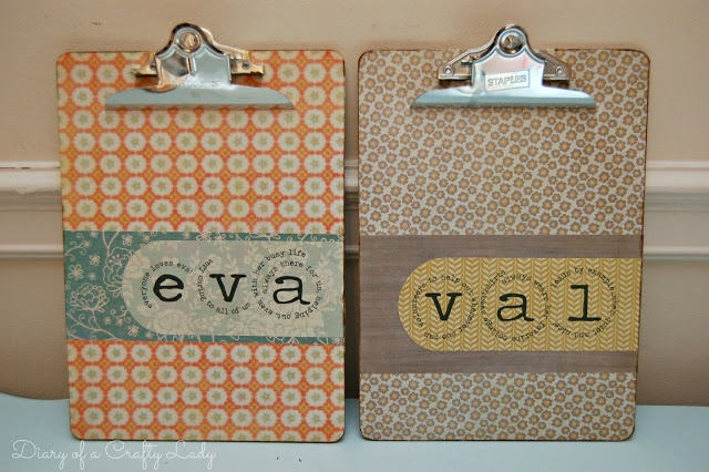 DIY~ Personalized Clip Boards