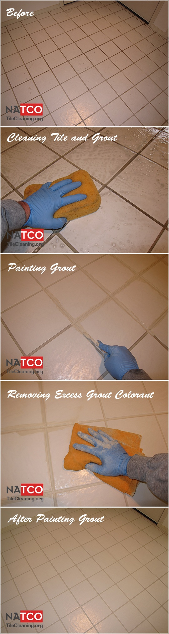 19 best grout colorsealing before and after images on pinterest how to paint the grout in a tile floor with a grout colorant dailygadgetfo Gallery