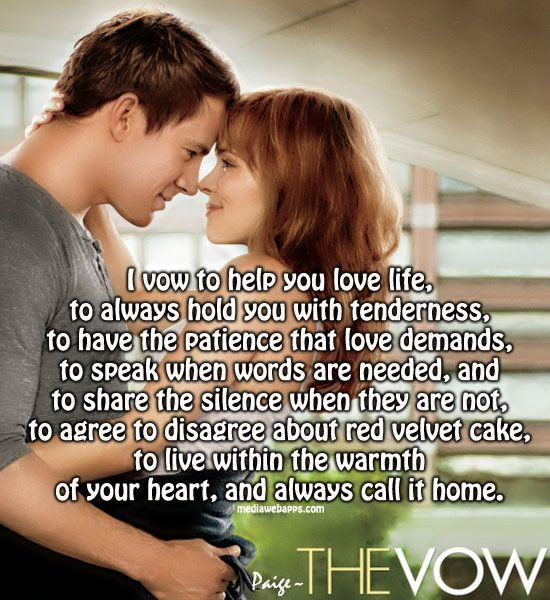 the vow quotes | Quotes at Repinned.net