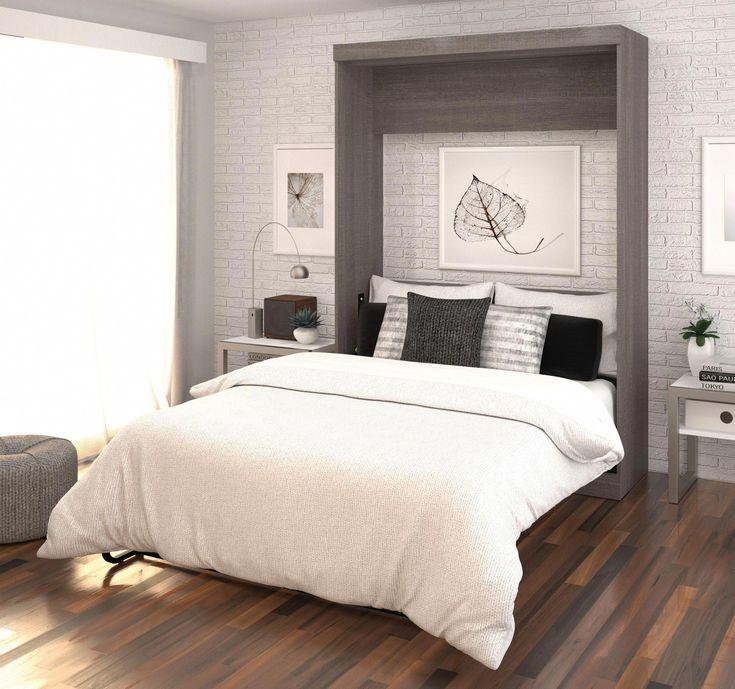 bestar nebula by bestar full wall bed in bark gray white on wall beds id=49249