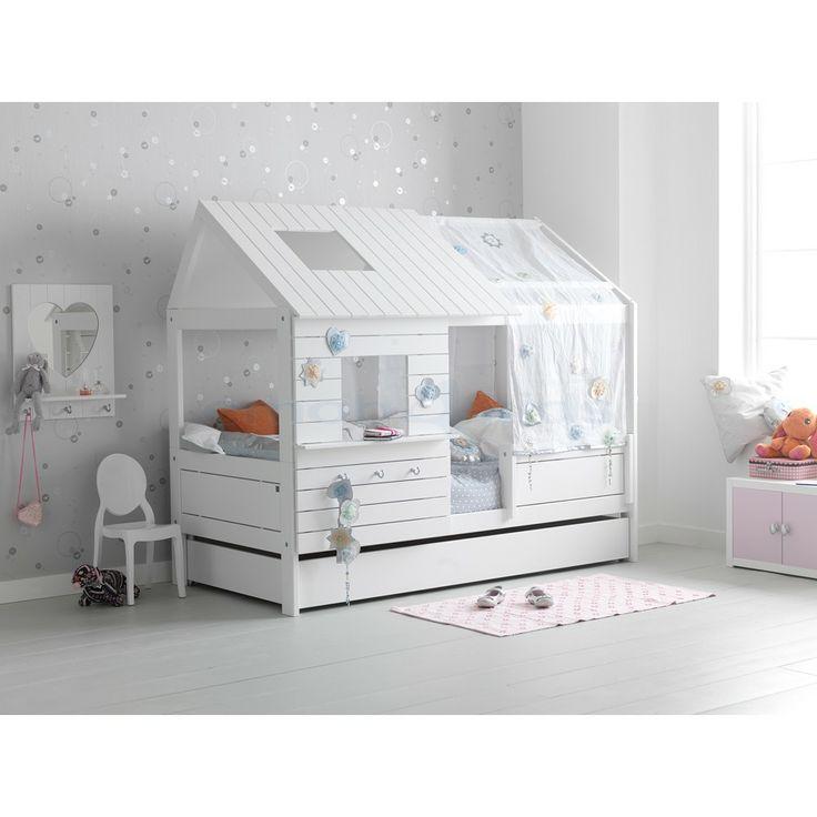 Lit cabane silversparkle lacqué blanc http www emob4kids fr