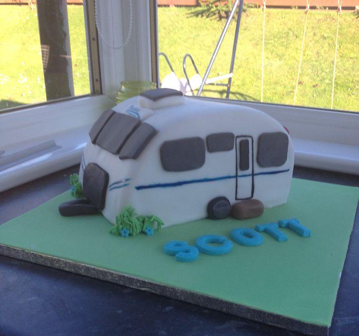 Caravan cake. Chocolate sponge and buttercream.