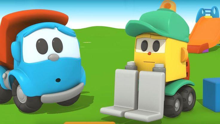 Cartoni animati per bambini: Camioncino Leo e il suo nuovo amico il carr...
