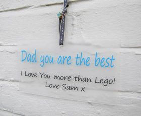 personalised gift wall plaque sign Dad you are the best - Another Gorgeous Day
