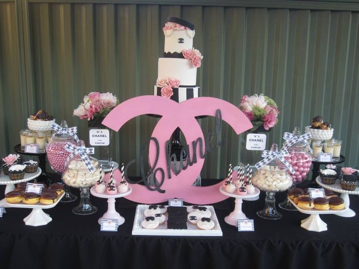 Chanel Party Via Babyshowerideas Chanelparty Baby Shower Ideas For Boy Or Girl