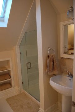 Attic renovations contemporary-bathroom