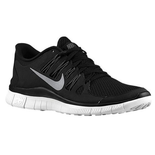 Nike Free 5.0+ - Women's  Black/Pure Platinum/Metallic Dark Grey | Width - B - Medium Product #: 80591004