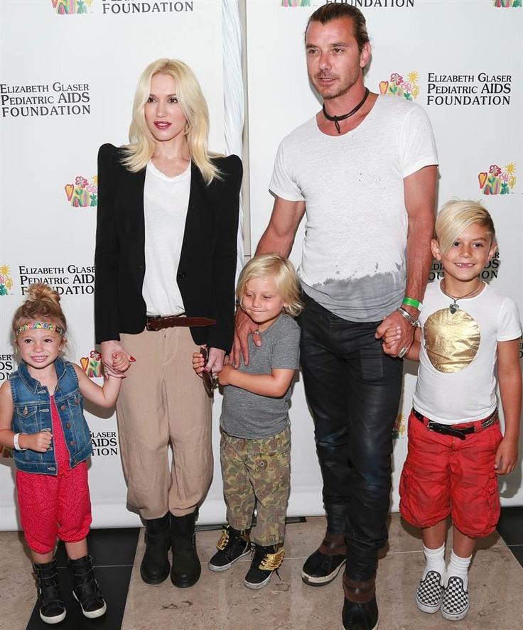Gwen Stefani, Gavin Rossdale and family