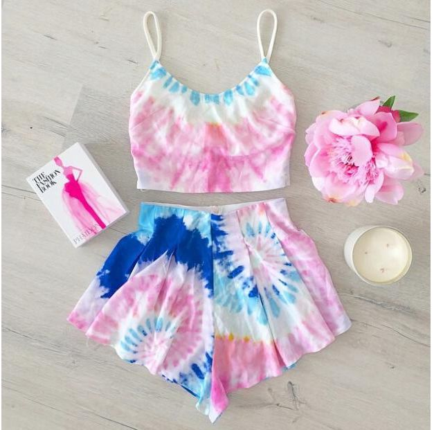 Tie Dye Two Piece Set- could see myself wearing this