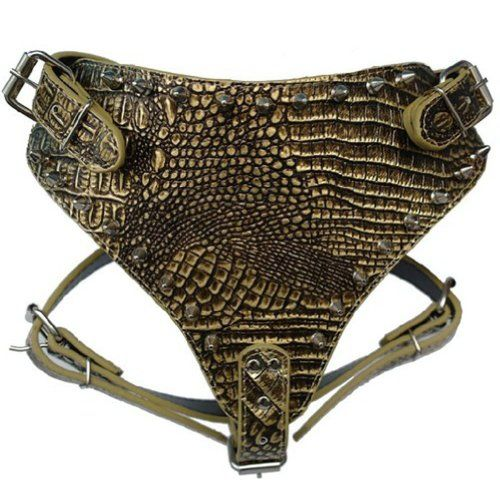 HindaWi Bronze Spiked Studded Leather Dog Harness Large 2634 Chest for British Pit Bull Mastiff Boxer ** Continue to the product at the image link.