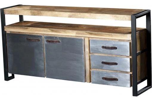 Buffet en bois et métal CHRISIS