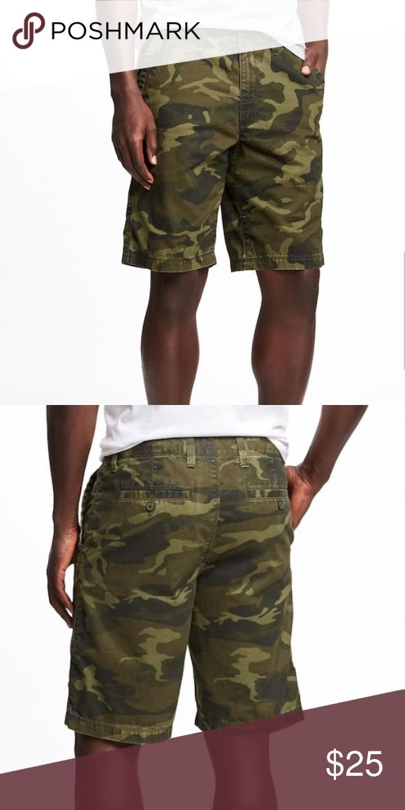 NWT Men's Camo Shorts Brand new - NWT - in original wrapping - husband receiving two pairs for his birthday so we need to sell the other! Old Navy Shorts
