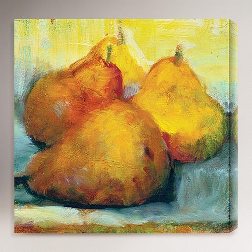 One of my favorite discoveries at WorldMarket.com: 'Sun Bathing Pears' by Sylvia Angeli
