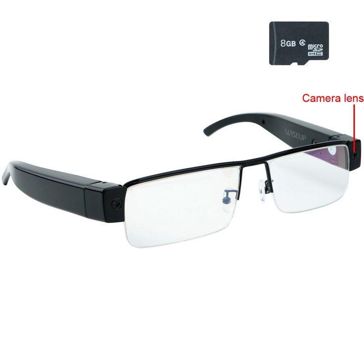 Wiseup 8GB 1080P HD Spy Camera Glasses Mini Video Recorder with Audio Recording Function