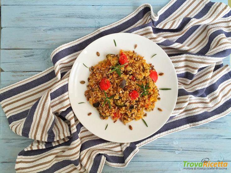 Quinoa con mix di verdure e semi tostati  #ricette #food #recipes