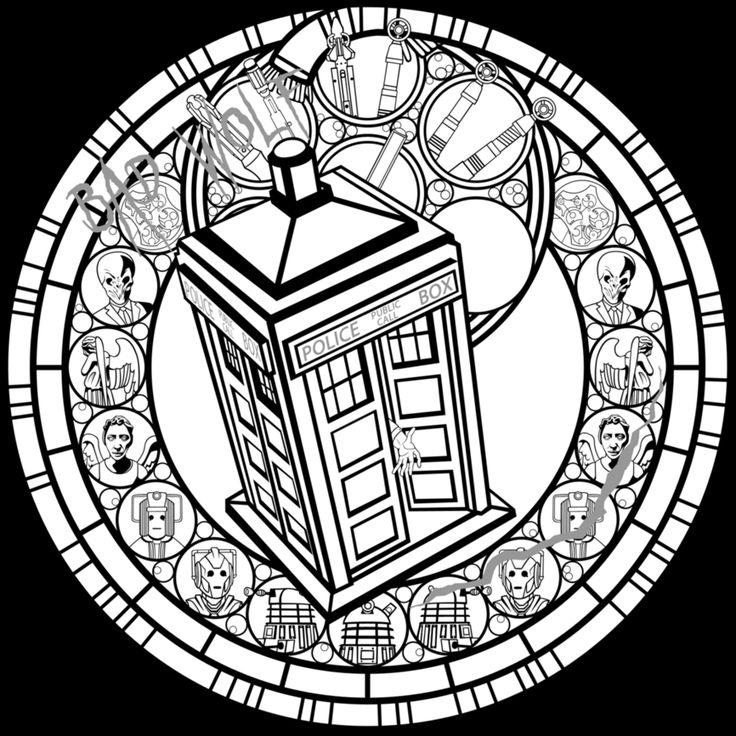 Doctor Who SG Line Art By Akili Amethyst