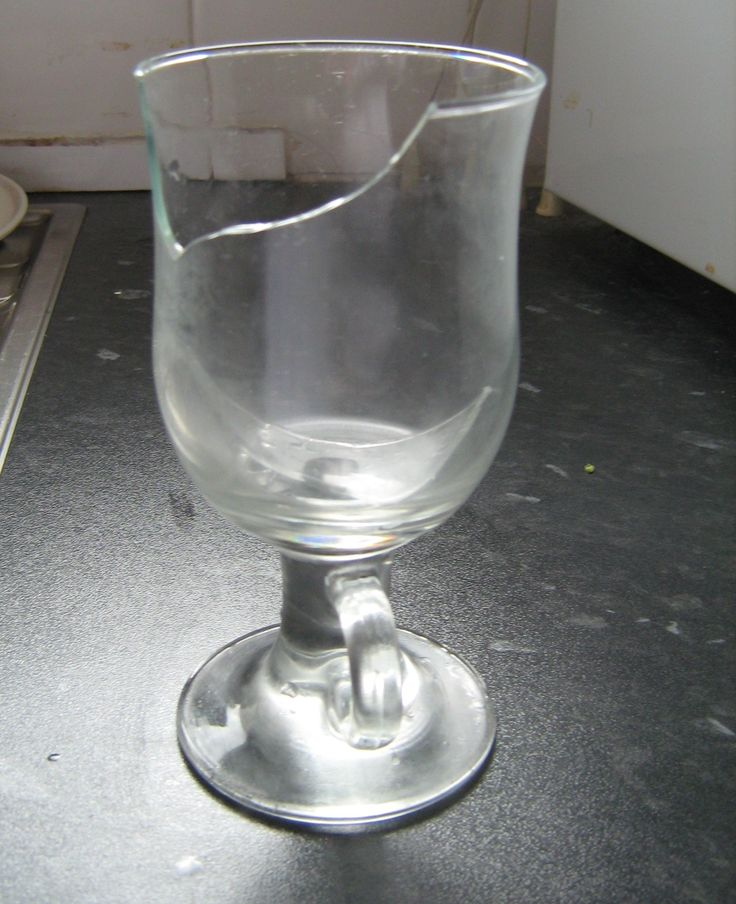 Cracked Drinking Glass