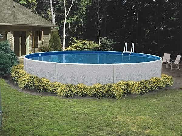 Backyard Landscaping Around Above Ground Pool : Above ground pool landscaping