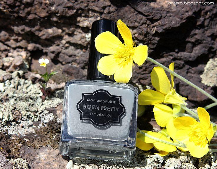 Born Pretty серая краска для стемпинга 15ml Grey Stamping Polish Manicure Nail Art Plate Printing Polish