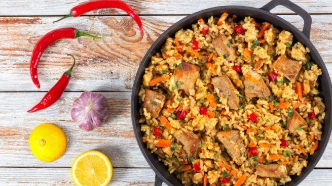 Receta De Arroz Meloso Con Costilla De Cerdo Y Verduras Recipe One Pot Meals Rice Dishes One Pot Dinners