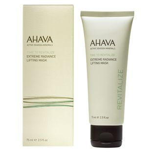 AHAVA Extreme Radiance Lifting Mask - $47.50. This lightweight and cooling gel-textured mask works to firm, lift and smooth skin to restore its youthful, radiant appearance and tone. Powered by AHAVA's Extreme Complex and infused with Dead Sea minerals and Palm Date extract, Himalayan Goji berries and powerful Argan oil, all of which replenish your skin. This fast-firming mask utilises a unique delivery system to trap active ingredients, allowing for ultimate delivery and absorption.