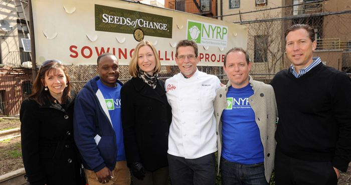 sep. 2011 - SEEDS OF CHANGE® is donating 2.5 million seeds to NYRP to be used in their 700 community gardens throughout the year.