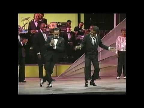 "Sammy Davis Jr. and other ""old-timers"" tap dancing in 1985.  These dancers may be older but they still got the moves."