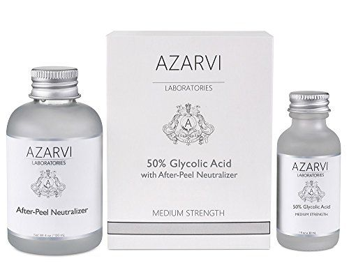 50% Glycolic Acid Peel Including After Peel Neutralizer. Wrinkles, Age Spots, Rough Skin Texture. Medium Strength. Contains Retinol & Vitamin C REMOVES DEAD SKIN CELLS: Combat signs of aging. Remove old, dead skin cells to reveal your brighter skin below COMBATS ACNE, DETOXIFIES SKIN: Get clear, smooth skin. Peel purges dirt & bacteria. Shrink pores and control oily skin DIMINISH WRINKLES: Peels away the old, tired skin to minimize wrinkles. Skin will look fresh and more yout
