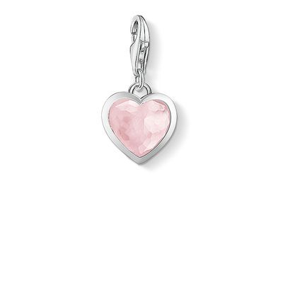The #THOMASSABO #Heart #Charm made of #rosequartz cut into a heart shape bordered in 925 Sterling silver as a #beautiful messenger of #love.