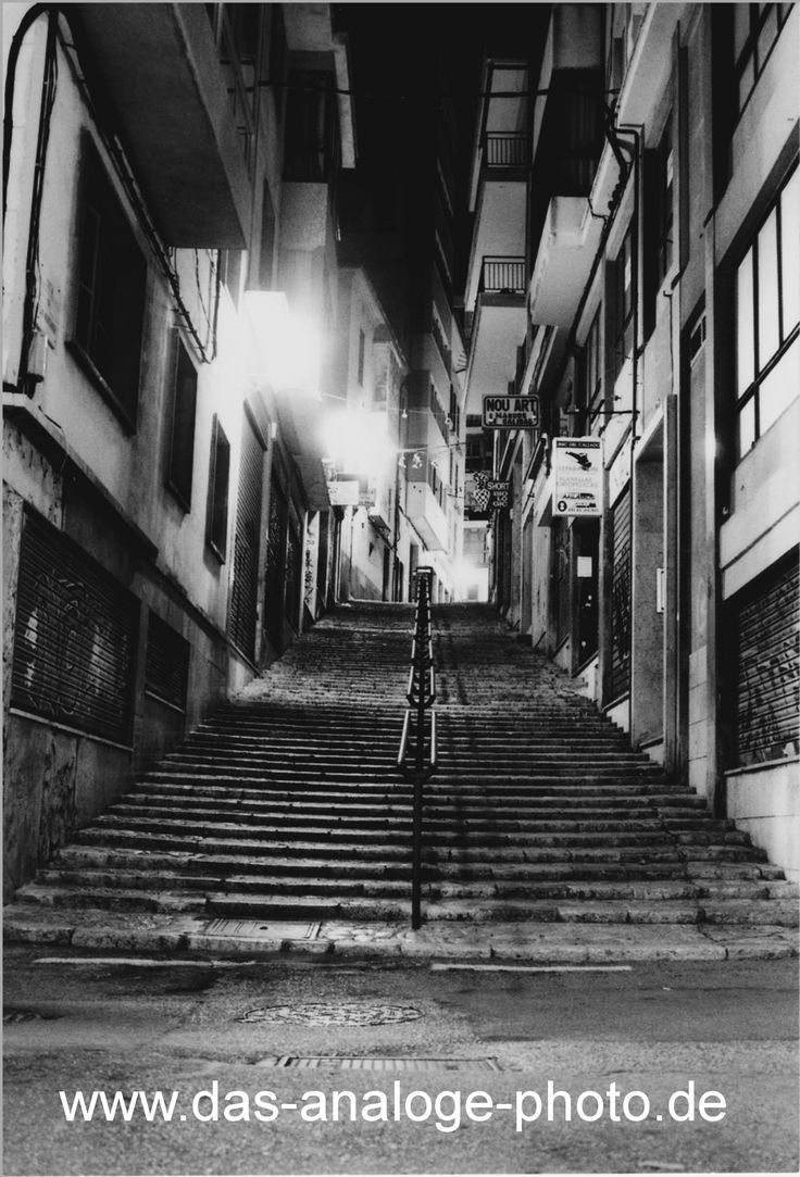 treppe in palma ~  stairs in palma at night