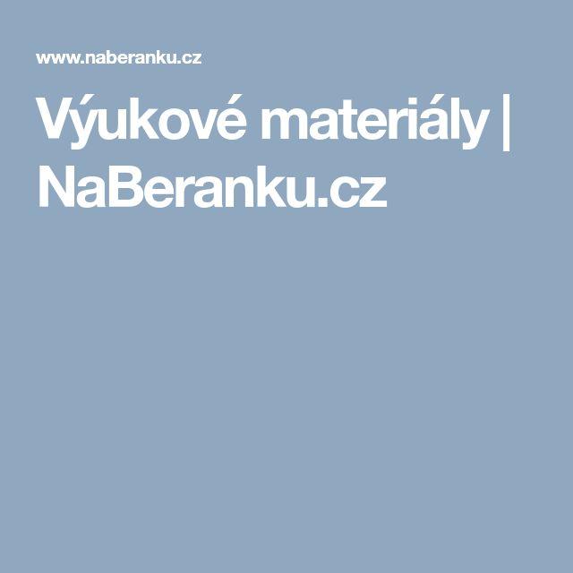 Výukové materiály | NaBeranku.cz