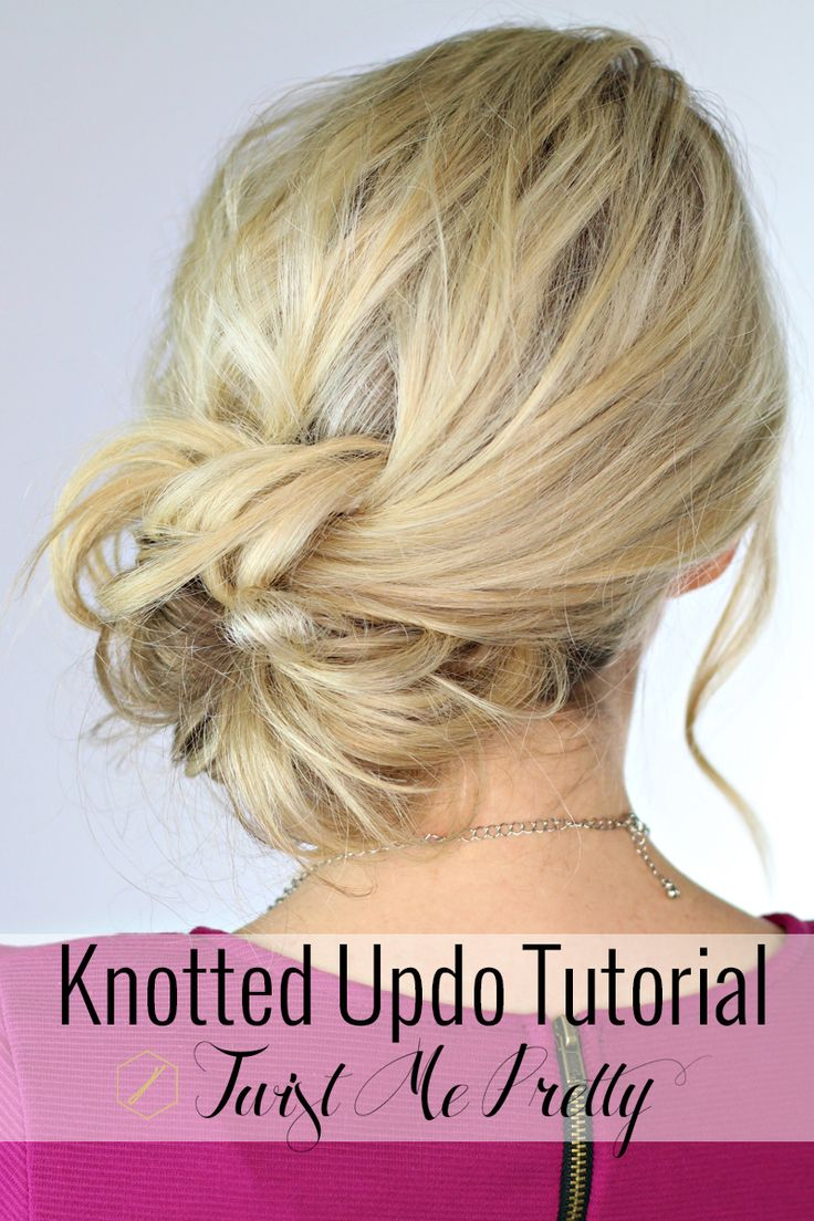 Is this not the most beautiful knotted bun?  Abby's video tutorial makes learning this style so easy!  PIN and save for your next fancy night out!