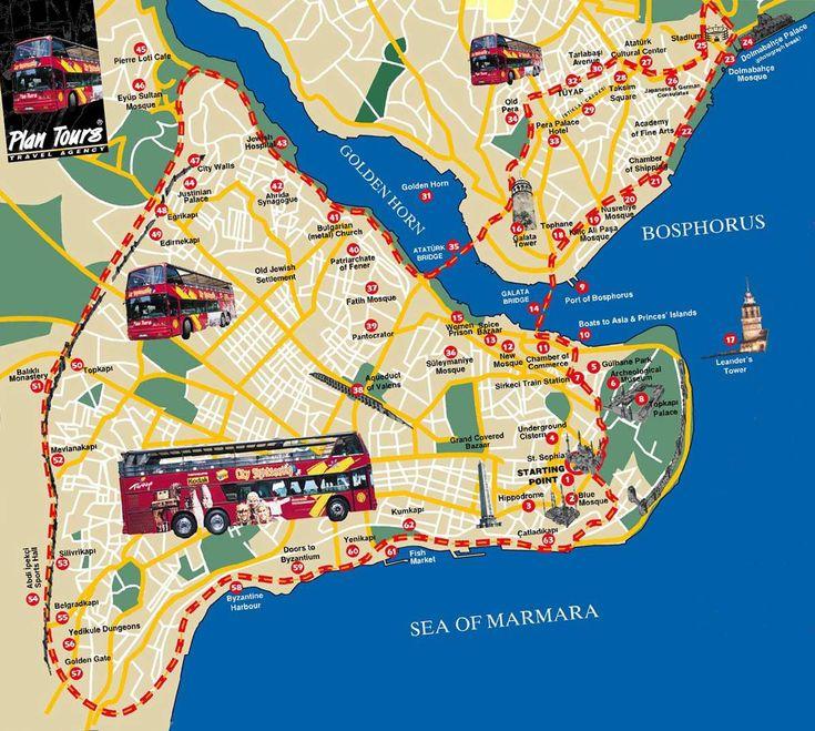 Stadtplan von Istanbul