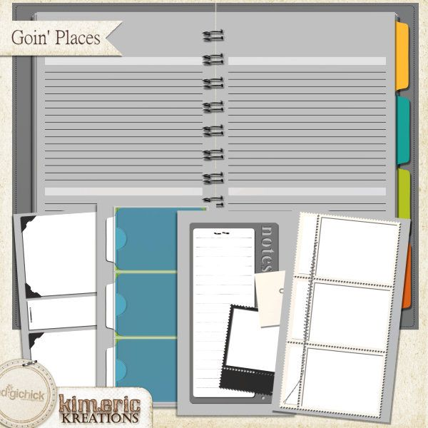 kimeric kreations: Goin' Places & Day Planner templates - new this week! and . . . a wonderful cluster :)