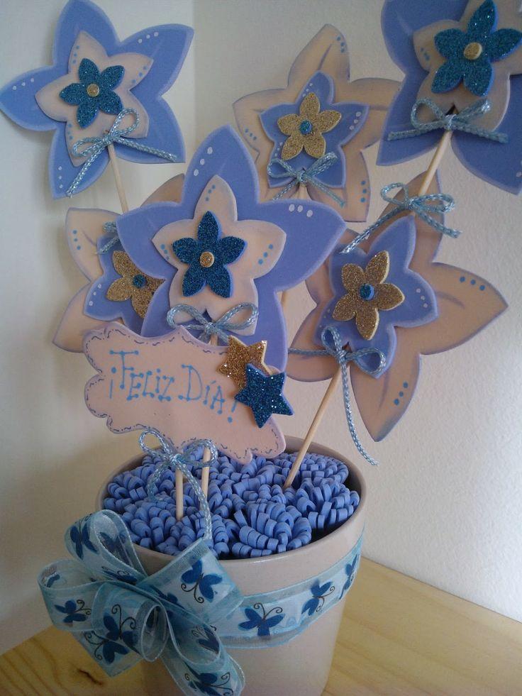 Flores hechas con tiras de foamy o goma eva youtube - Flore de goma eva ...