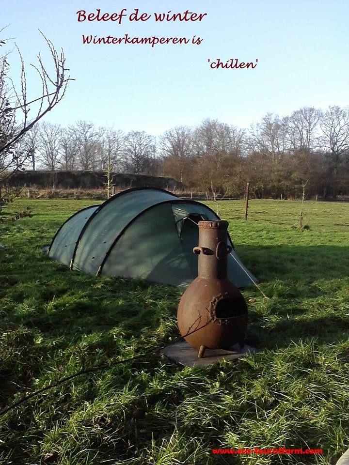 Winterkamperen is letterlijk en figuurlijk 'chillen'  Laat de winterse rust over je heen komen. www.eco-touristfarm.com