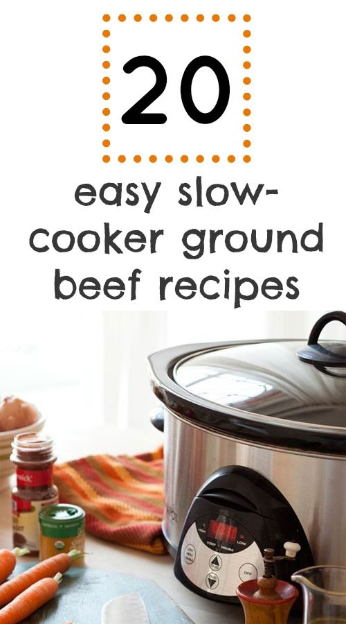 Easy weeknight dinners: 20 slow-cooker ground beef recipes to try #CrockPot