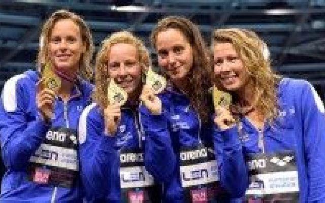 Pellegrini, Paltrinieri e la squadra azzura vince a Berlino, XXXII Campionati Europei di nuoto 2014 #pellegrini #cagnotto #paltrinieri
