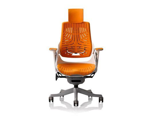 plummers wau office elastomer chair in orange, $499 #modern