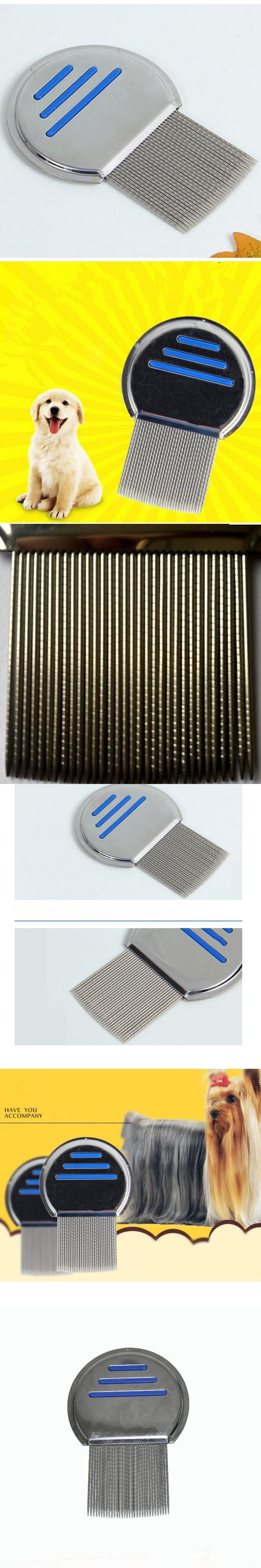 Top Qulaity Stainless Steel Terminator Lice Comb Nit Kids Pets Dogs Hair Rid Headlice Super Density Teeth Remove Nits Comb