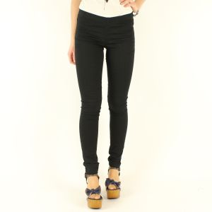 PIECES - PANTALON 17033156 FUNKY FOXY NEGRO