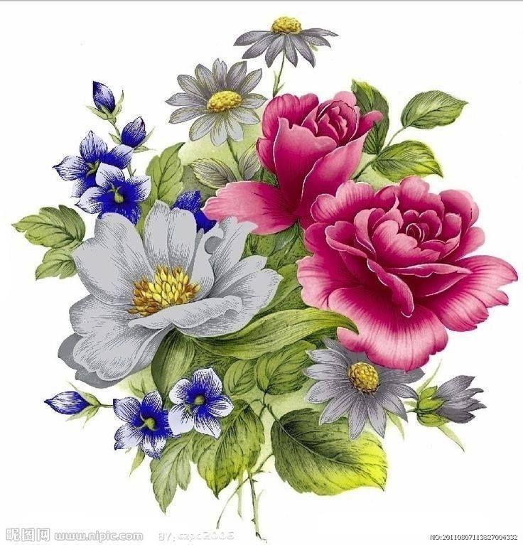 Картинка с цветами нарисованная