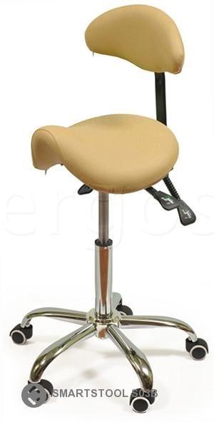 Эргономичный Smartstool стул-седло со спинкой S03B