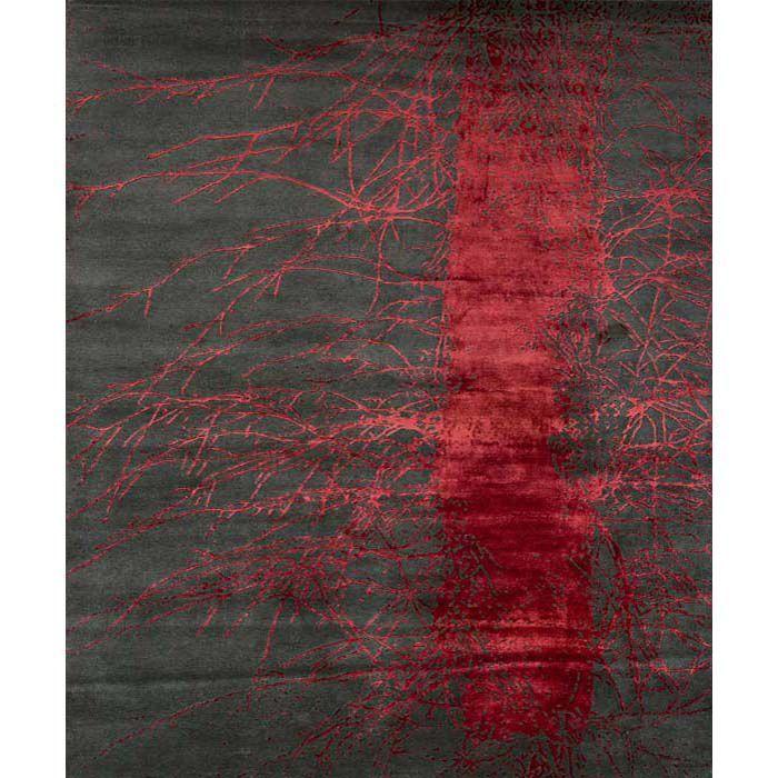 "Темно-серый ковер ""Красный куст"" Bush Red"