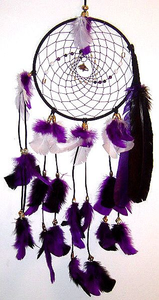 SHUT THE FRONT DOOR.  Why don't I own this?!?! Baltimore Ravens Native American Inspired DreamCatcher