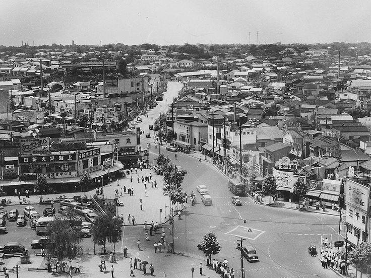 1952年 渋谷 スクランブル交差点