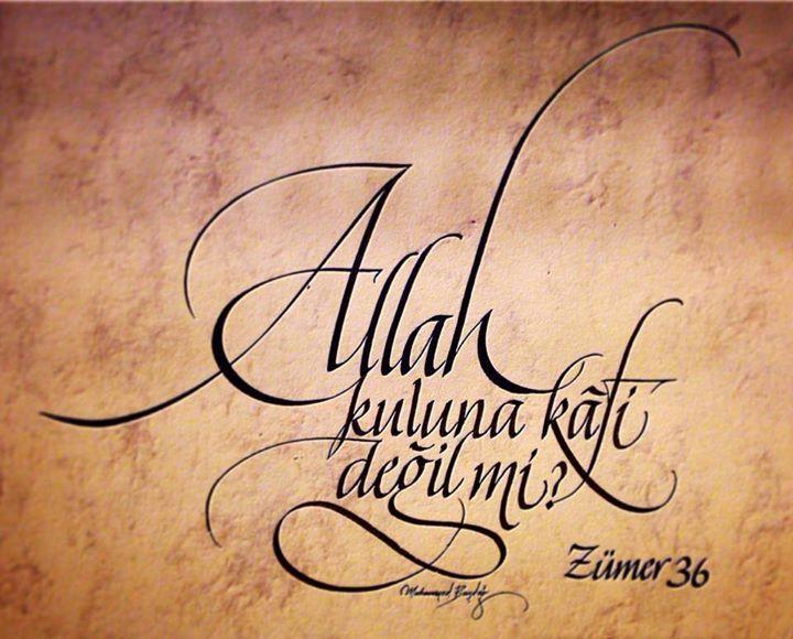 Allah kuluna kafi değil mi? Zümer Suresi 36. Ayet