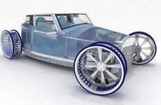 Windmill-Wheeled Concept Cars
